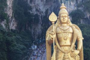 クアラルンプール 観光2 国内最大規模のヒンズー寺院!- バトゥ洞窟(バトゥケイブ) –