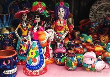 メキシコのお土産(ガイコツ雑貨)