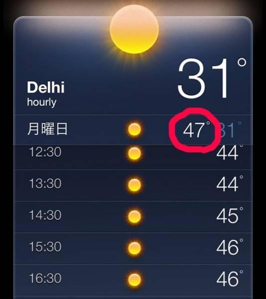 インド・デリーの気温