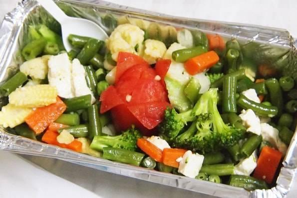 インドの茹で野菜