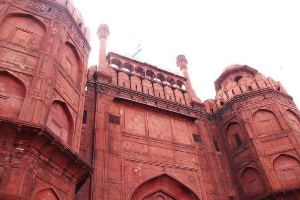 インド・オールドデリーにある世界遺産ラールキラー(レッドフォート・赤い城)