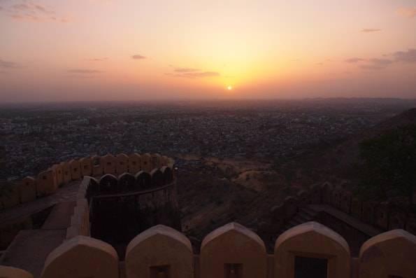 インド・ジャイプール観光 夕日が綺麗な「ナルガール要塞」