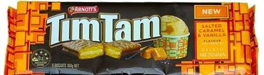 ティムタムTIMTAM塩キャラメル&バニラ(Salted Caramel & Vanilla)