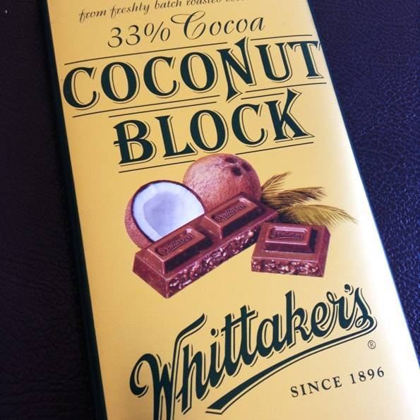 ウィッタカーズ(Whittaker's)ココナッツブロックチョコレート