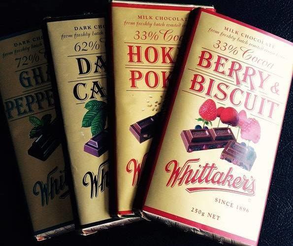 ニュージーランドの一番美味しい板チョコレート【ウィッタカーズ】全種類!