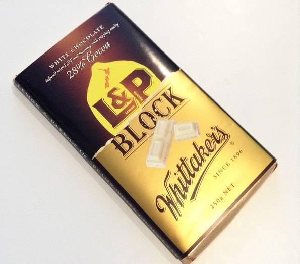 ウィッタカーズ(Whittaker's)L&Pホワイトチョコレート