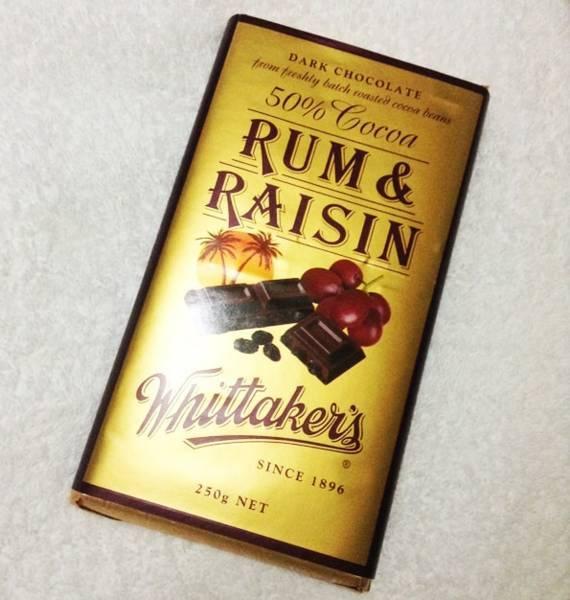 ウィッタカーズ(Whittaker's)ラムレーズンチョコレート