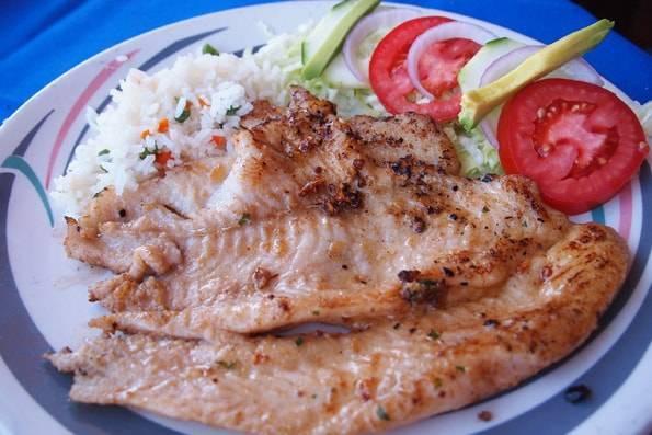"""メキシコで食べた""""白身魚のソテー"""""""