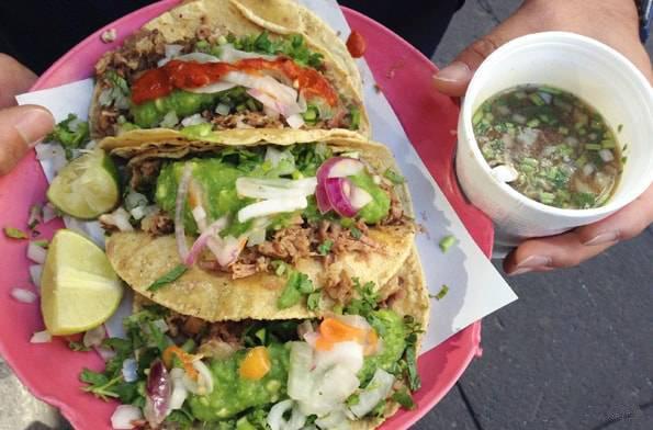 メキシコシティで食べたタコス
