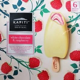 Kapiti(カピティ)のホワイトチョコレート&ラズベリーアイス