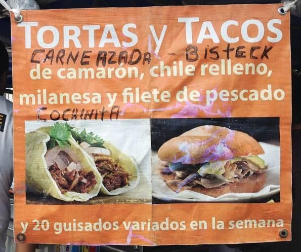 メキシコで食べた「タコス」と「トルタス」