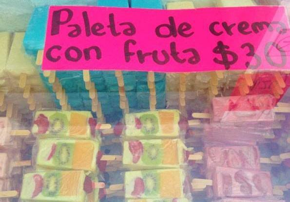 メキシコ・カンクンのアイスキャンディー