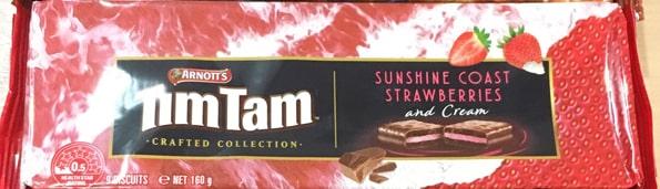 ティムタムTIMTAMストロベリー&クリーム(Crafted Collection Sunshine Coast Strawberries & Cream )